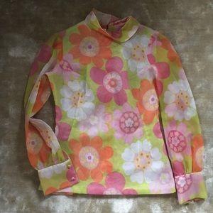Tops - Flower Power Vintage 60s Shirt Top MOD